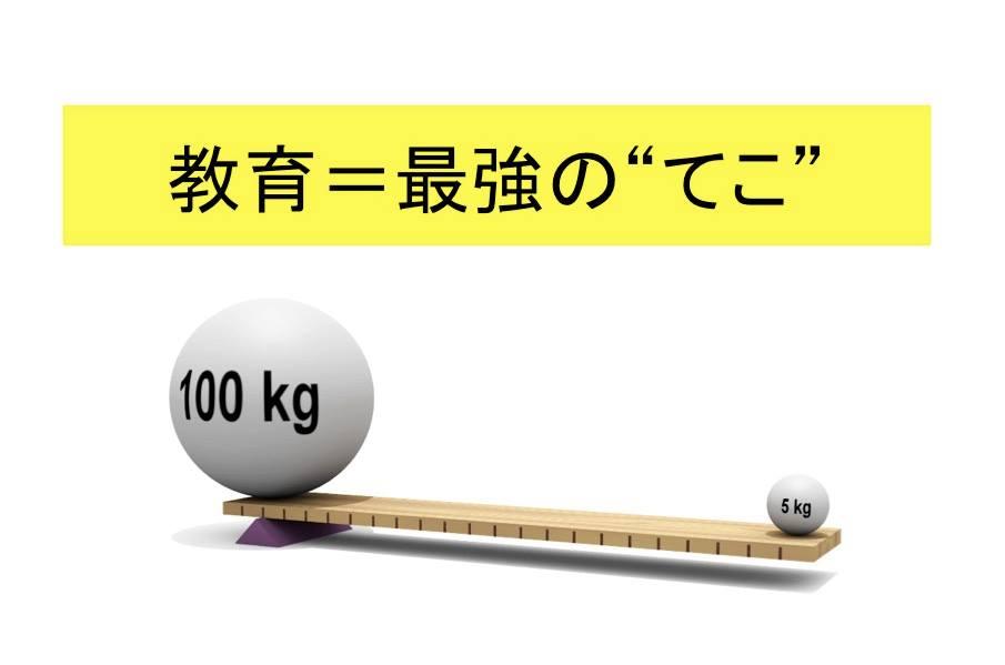 """教育=最強の""""てこ"""""""